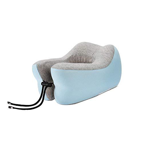 YEE Almohada de viaje de espuma de memoria de almohada de viajes, almohada de cuello de espuma de memoria, almohada en forma de U, protección de soporte envolvente 360 ° de la columna cervical con b