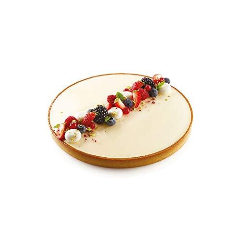 Silikomart - Anello di taglio per torte, in plastica perforata resistente al calore, cerchio per crostate