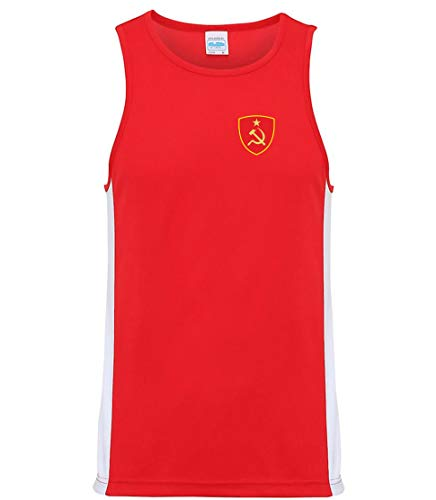 Nation CCCP Sowjetunion Trikot Tank Top Athletic Training ATH BR-R (XL)