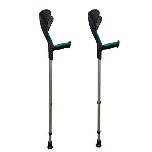 Queraltó Muletas Advance, 2 uds, Color Verde, con puño anatómico de Goma