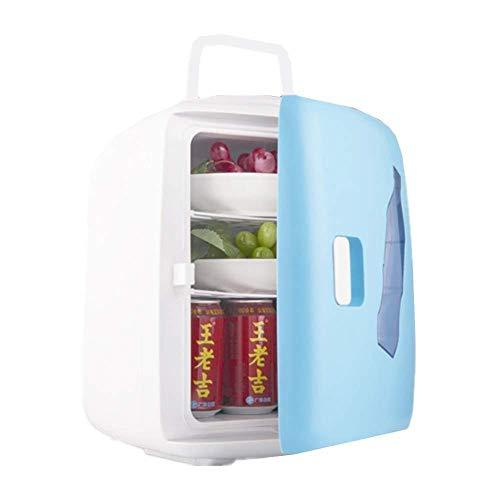 Wangt draagbare auto-koelkast, 6 l, hoge capaciteit, mini-koelkast, 12 V/220 V, dubbelspanning, koelbox voor dranken, wijn en bier, ergonomische handgreep