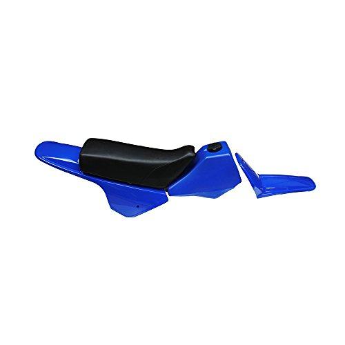 JFG RACING Fairing Plastic Gas Tank Kit Rear Fender - Yamaha PW80 PW 80 - Blue