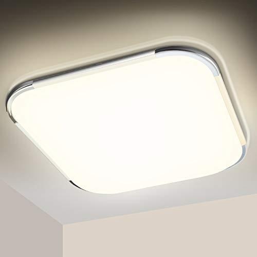SWANEW LED Deckenleuchte 12W, 4000K Neutralweiß, 1020LM LED Deckenlampe, Badezimmer Lampe, IP44 Wasserdicht Badleuchte, für Schlafzimmer Küche Balkon Bad Flur Keller, Wandlampe, Balkonlicht