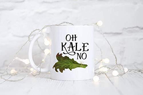N\A Taza de Col rizada, Oh Kale sin Taza, Taza Divertida, Taza de café Divertida, Vegano, Vegetariano, Taza, Taza, Regalo Gourmet, Taza de Novedad, Blogger de Comida, Chef, Cocinero