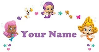 Personalized Bubble Guppies Girls Kids Name Wall Decal