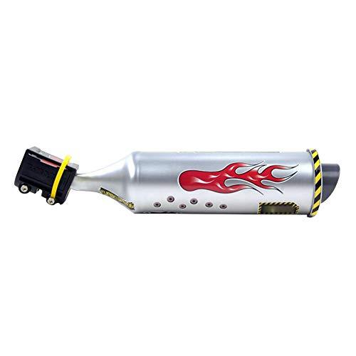 Romote 1 Stück Motorrad Auspuff Fahrrad Auspuff-Sound-System Mini Carbon-rund Schalldämpfer Auspuff Motorrad-geräusch-Hersteller Radfahren Zubehör
