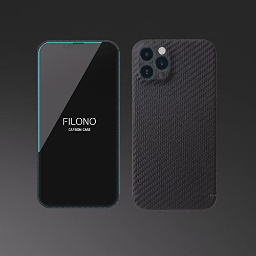 FILONO iPhone 13 Pro Max Hülle Carbon, ultradünn, hochwertig, schwarz-matt-chic