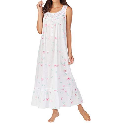 Eileen West 100% Cotton Sleeveless Ballet Nightgown Light Yellow XL