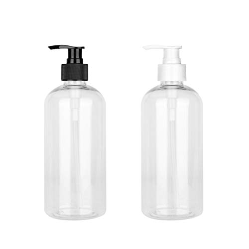 unkonw Press Pump Bottles Storage Bottle with Black Lids Liquid Soap Dispenser Refillable Container for Water Essential Oil