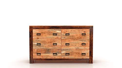 Timbergirl Ajmer 6 Drawer Dresser, Brown