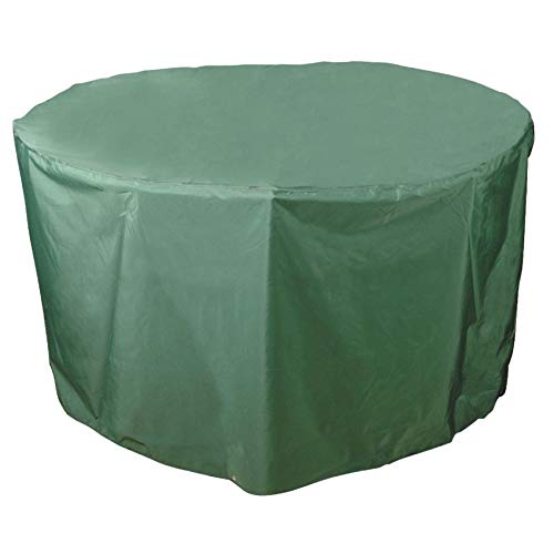 Bosmere Weatherproof Round Table Cover, 40' Diameter x 28' High, Green