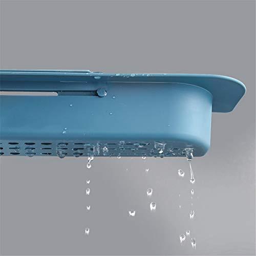 Yousir Teleskop Waschbecken Regal Seife Schwamm Abfluss Gestell Lagerung Korb Wasserhahn Halter verstellbar Badezimmer Halter Waschbecken Küche Zubehör