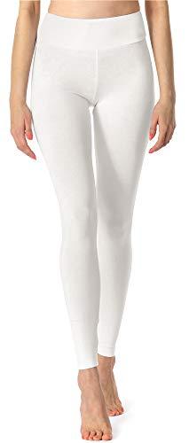 Merry Style Leggings Lunghi Pantaloni Donna MS10-221 (Bianco, 5XL)