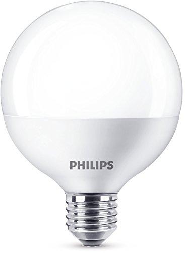 Philips 8718696580639 A+, LED-Leuchtmittel, Plastik, 9.5 W, E27, matt weiß, 9.5 x 9.5 x 12.8 cm