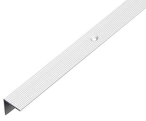 GAH-Alberts 476854 Treppenkanten-Schutzprofil | Aluminium, silberfarbig eloxiert | 1000 x 21 x 21 mm