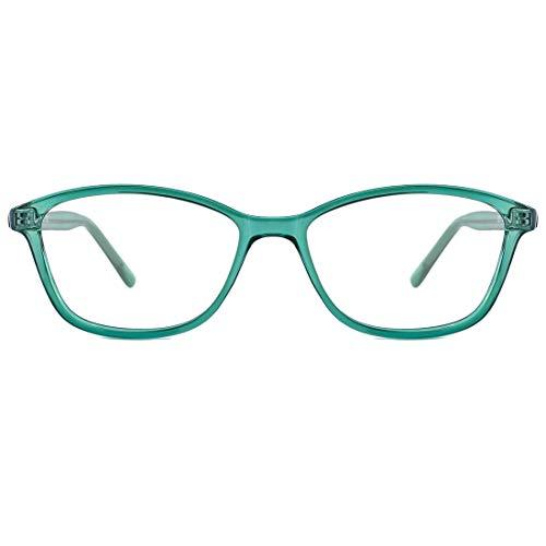 TIJN Blaulichtfilter Brille Gaming Brille Ohne Sehstärke Baulicht Schutzbrillen Leichte BrilleRahmen Brillenfassung für Damen Herren