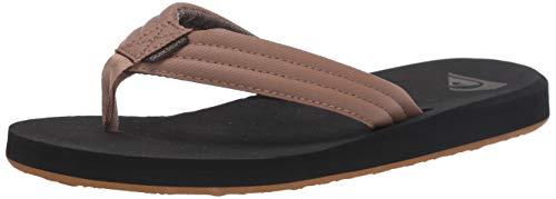Quiksilver Men's Carver Tropics Flip-Flop, tan-Solid, 11(44) M US