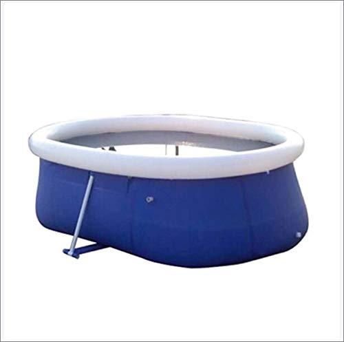 PSOIHGTFS Piscina Desmontables Oval- Steel Pro - Piscina Grande con Estructura de Acero, 265 X 190 X 80 Cm- 104 X 74.8 X 31.5 Inch- 3600 litros,Azul