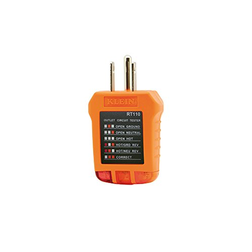 Klein Tools RT110 Receptacle Tester for North American AC...