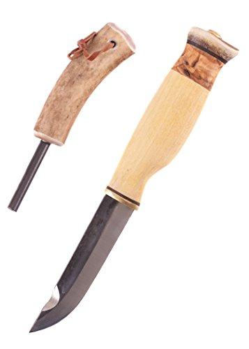 Wood-Jewel 23JVS Jagdmesser mit Feuerstahl Campingset Jagdmesser Outdoormesser Ritter Mittelalter Survival ab 18 Jahren