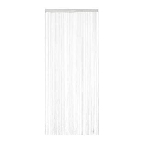 Relaxdays weiß, Fadenvorhang, kürzbar, mit Tunneldurchzug, für Türen & Fenster, waschbar, Fadengardine, 90x245 cm, White, 1er Pack 90x245cm