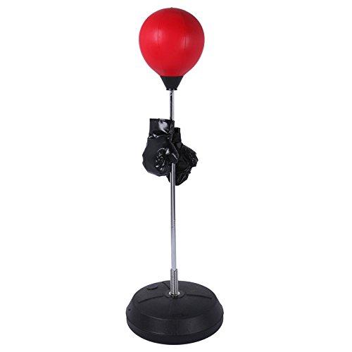 Fitness House Ball - Set para Practica de Boxeo, Color Rojo, Talla única