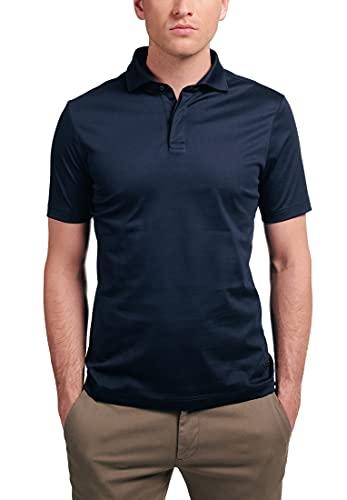 eterna Kurzarm Poloshirt Slim Fit Jersey unifarben