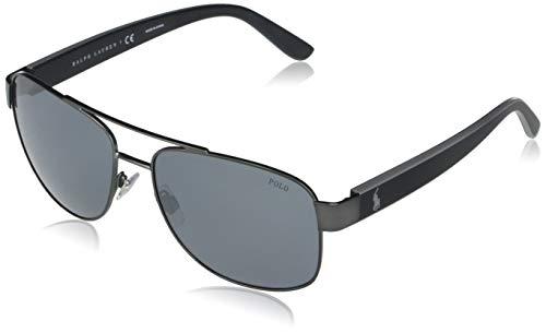 Ralph Lauren POLO 0PH3122 Gafas de Sol, Matte Dark Gunmetal, 59 para Hombre