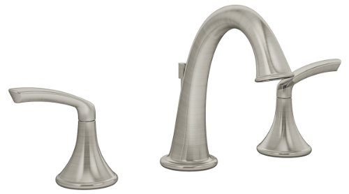 Symmons SLW-5512-STN-1.5 Elm Widespread 2-Handle Bathroom Faucet with Drain Assembly in Satin Nickel (1.5 GPM)