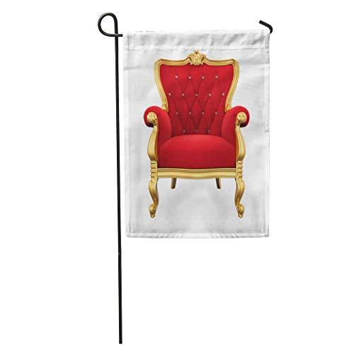 Gartenflagge Roter König Thronsessel 3D-Rendering Sessel Königshaus Royal Vintage Home Yard House Dekor Barnner Außenständer 12,5 'x 18' Flagge