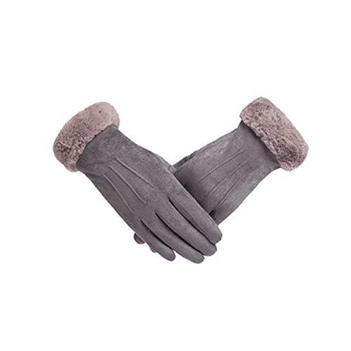 Vohoney Handschuhe Damen, Winter Handschuhe Warme Touchscreen Handschuhe Outdoor Sport Fahrradhandschuhe Winddicht Laufhandschuhe Künstliches Wildleder Handschuhe(Damen Winterhandschuhe Grau)
