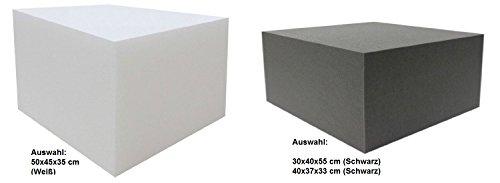 Dibapur® Orthopädischer Bandscheibenwürfel Anthrazit/Schwarz (Ohne bezug) - (30x40x55 cm) Stufenlagerung, Stufenlagerungswürfel, Stufenbett, Reha, Orthopädischer, Kaltschaum, Positurkissen, Lagerungskissen, Stufenlagerung