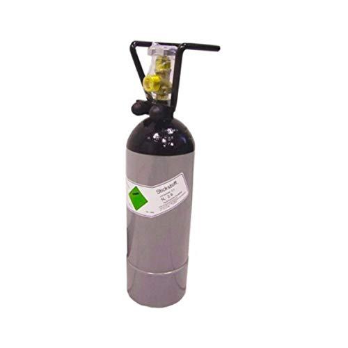 Stickstoffflasche 2 l, mit Flaschencage