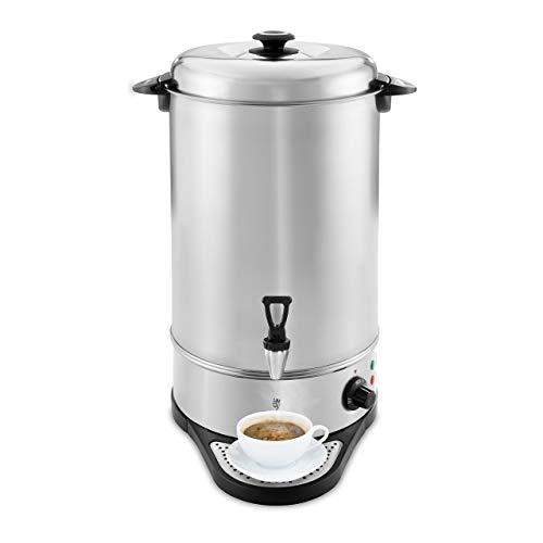 Royal Catering RCWK 20A Wasserkocher Abtropfschale 20 l 21,5 l 2.200 W Edelstahl 100 °C Teekocher Ablasshahn