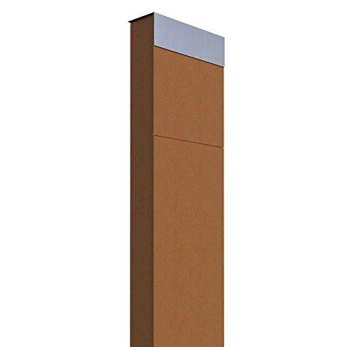 Standbriefkasten, Design Briefkasten The Box Rost/Edelstahl - Bravios