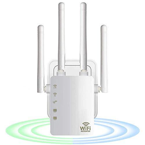 Repetidor WiFi Extensor WiFi 2.4G 5GGhz Amplificador WiFi inalámbrico 1200Mbps Amplificador Wi-Fi 802.11N Ampliar señal de Largo Alcance
