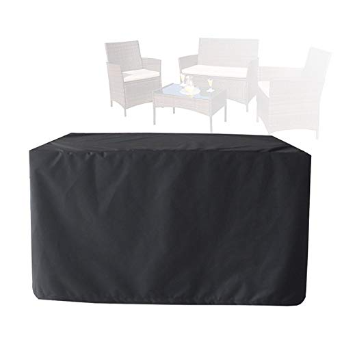 ALGWXQ Patio Furniture Cover Super Large Outdoor Sectional Table Chair Sofa Covers Waterproof Dust Proof Rattan Cube Cover,Customizable (Color : Black, Size : 210×77×79cm)