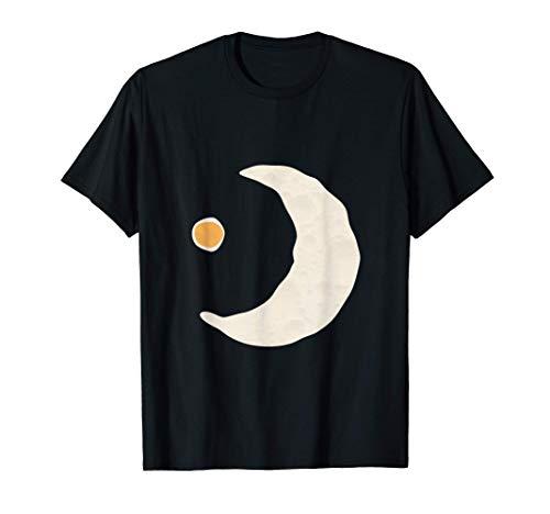 抽象ボヘミアンムーン | 卵黄朝食卵白 Tシャツ