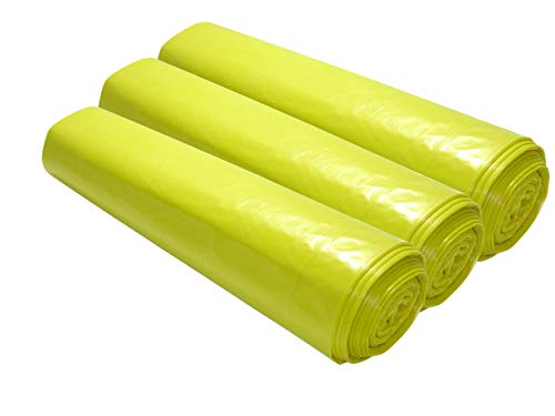 200 Müllsäcke (120 Liter, 700 x 1100cm, 35µ stark, gelb), Muellbeutel, Müllsack, Abfallsack, Mülltüten.
