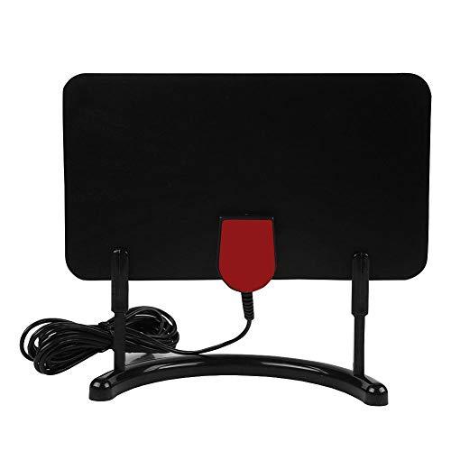 Eboxer Digital ATSC/DVB-T2 Binnen 1080P / 4K HDTV antenneversterker met houder TV antennes (zwart)