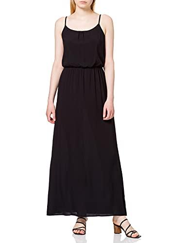 ONLY Damen Onlnova Life Strap Maxi Dress SOL WVN 7 Kleid, Black, 38