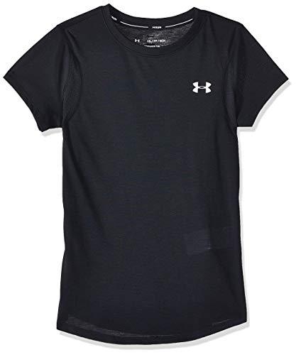 Under Armour UA Streaker 2.0 Camiseta, Mujer, Negro (Black/Black/Reflective 001), M
