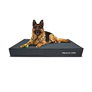 """Replacement Outer Cover ONLY (Outer Cover ONLY – NO Bed, NO Waterproof Inner) for The Dog's Bed, Washable Quality Oxford Fabric, Large 40"""" x 25"""" x 6"""" (Grey with Black Piping)"""