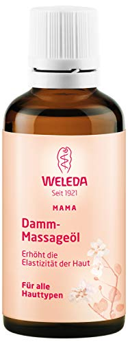 WELEDA Damm Massageöl, Naturkosmetik Schwangerschafts- und Körperöl zur Erhöhung der Elastizität der Haut und Vorbeugung von Dammrissen bei der Geburt (1 x 50 ml)