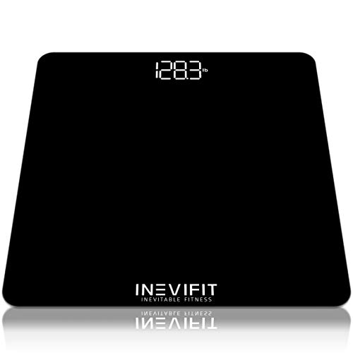 INEVIFIT Bathroom Scale, Highly Accurate Digital Bathroom Body Scale, Measures Weight up to 400 lbs. Includes Batteries