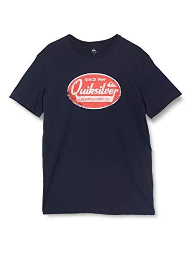 Quiksilver Herren What WE DO Best T-Shirt Screen Tee, Navy Blazer, M