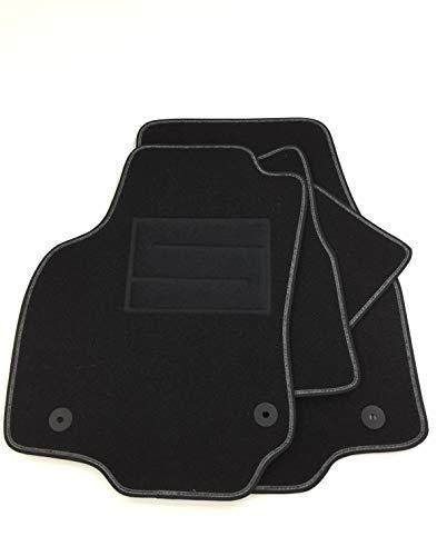 ASC Alfombrillas para Astra GTC I Serie 2004-2009 de moqueta con botones