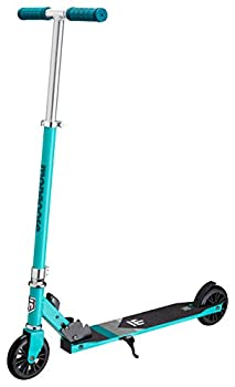 Mongoose Trace Youth/Adult Kick Scooter Folding and Non-Folding Design Regular Lighted and Air Filled Wheels Teal 120mm Wheels