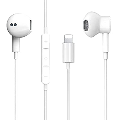 Lighting Earphones For iPhone Earbuds in-Ear Wired Headphone Headest with Mic and Volume Control Compatible with iPhone 12/12Pro/11/11Pro/XS/XS Max/X/XR/8/8 by Aercue