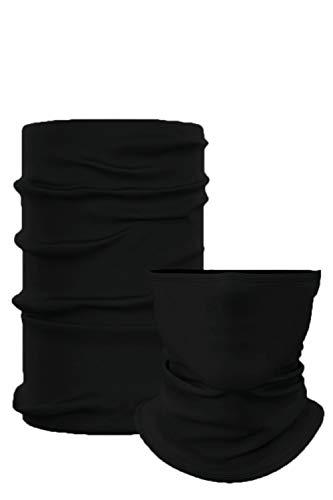 Neck Gaiter Masks for Men & Women Balaclava Face Mask Bandana Face Mask Neck Warmer UV Protection Seamless Bandana Face Scarf Headwear (Black)